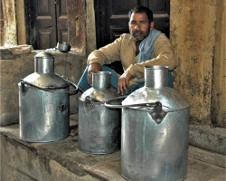Milk Trader Varanasi India By Colin Cronin