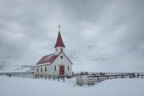 Second Place - Reynisfjara Church Iceland By Carol Watson